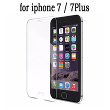 Case Cover Skin Hard Tempered Glass for iphone 7 7Plus Plus Crystal Clear Transparent Screen Protector Guard