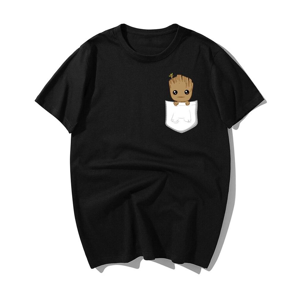 The Avengers Trees Man Men T-shirt Fashion Groot Tops Groot Printed Harajuku Hiphop T Shirts Short Sleeve Hipster Comics Tee