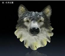 New wall coverings of European simulation Wolf statue living room office bar decorated resin animal head mural