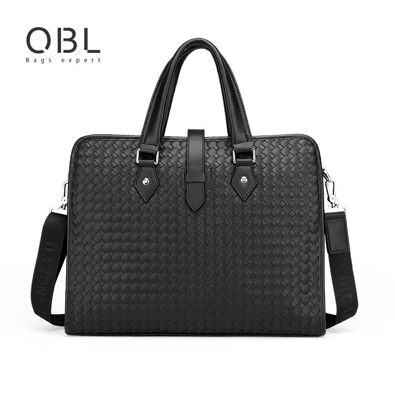 Bag Men Handbag Business Laptop Travel Shoulder Crossbody Bags PU Bolsos Hombre de Mano Sacoche Homme Marque Luxe 5813<br>