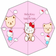 Latest style lovely Cartoon Hello Kitty children anime umbrella kids girl cute umbrella baby white pink umbrella(China)