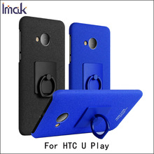 For HTC U Play IMAK Cowboy Case Matte Case PC Hard Back Cover Phone Cases & Finger Ring Hold