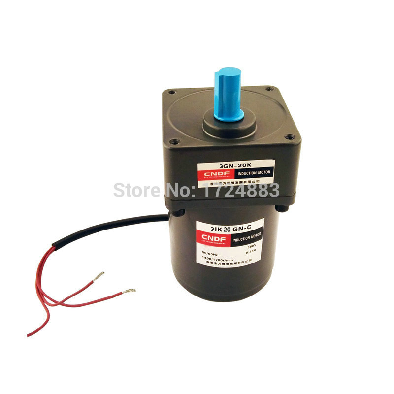 Induction Motor 3IK15GN Constant speed 220VAC Gear Motor 15W with capacitance output speed 8RPM 10RPM ~500RPM<br>