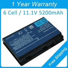 New 6 cell laptop battery for acer Extensa 5120 5210 5220 5230 5420 5610G 23.TCZV1.004 AK.006BT.018 AK.008BT.054  free shipping