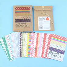 27 PCS Scrapbooking Masking Tape Craft Stickers Pack Decorative Labelling Art Adhesives Memo Pad