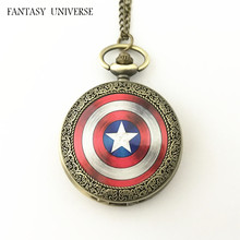 FANTASY UNIVERSE Freeshipping wholesale 20pc a lot pocket watch Iron man Necklace Dia47mm QLZHBBB02(China)