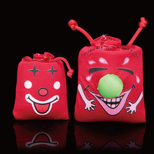 Free shipping 1pc Ha Ha Laughing Bag Push me I Will Laugh A Lot Gag Gift Prank Joke Funny Novelty Toy FM0975