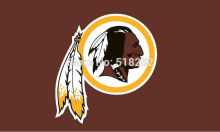 Washington Redskins Logo Flag 3x5 FT 150X90CM Banner 100D Polyester flag brass grommets 021, free shipping