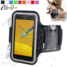 Sport Arm Band Running Case for Motorola Moto G5 , G4 Play , C XT1750 , C Plus , C 4G , E3 Power Gym Waterproof PU Leather Cover