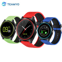 Teamyo V9 Smart Band Pedometer Sleep Monitor wristband with camera Electronics Smart Watch support SIM Card TF Card for Phone(China)
