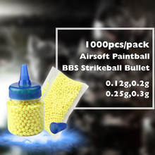 Buy 1000pcs/pack Shooting Airsoft Gun BB Bullet Balls Plastic Pellets Hunting Paintball Ammo Beads Tactical Pistol BBs Bottlle for $6.20 in AliExpress store
