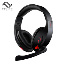 TTLIFE 7.1 Channel Virtual USB Surround Stereo Wired PC Gaming Headset Over Ear Headphones with Mic Revolution Volume Control