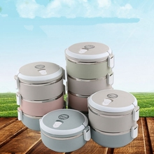 Portable Stainless Steel Japanese Bento Box Gradient Color Thermal For Food With Containers Lunch Boxs For Kids Picnic