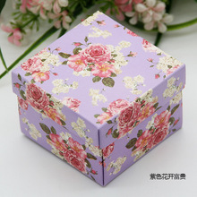 50pcs/lot full flower candy box for wedding invitations wedding gifts and favor holiday supplies 6*6*4cm