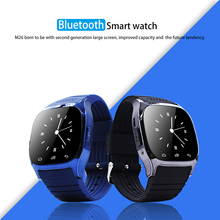9Tong Bluetooth Smart Watch M26 with Music Player Pedometer Call SMS Remind Pedometer Wristwatch for Android OS Mobile Phone C1(China)