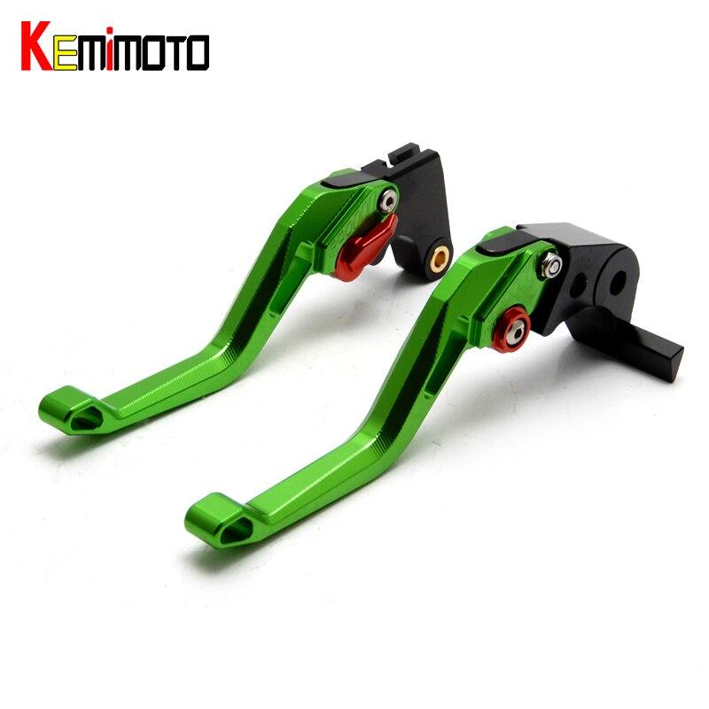 kemImoto 5D Motorcycle Short Adjustable Brake Clutch Lever for KAWASAKI ZX6R/636 ZX10R Z750R Z1000 Z1000SX NINJA 1000 Tourer<br>