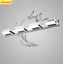 Hansvinu Brand 68cm 12W 4 heads LED Modern Acrylic Wall Lamp Bathroom Mirror Light , Stainless Wall Sconce , Led Light Factory