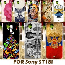 DIY Painting Plastic Case For Sony Ericsson Xperia Ray ST18i rayST18i Phone Bag Cover Protective Shell Funda Carcasa Shell Coque