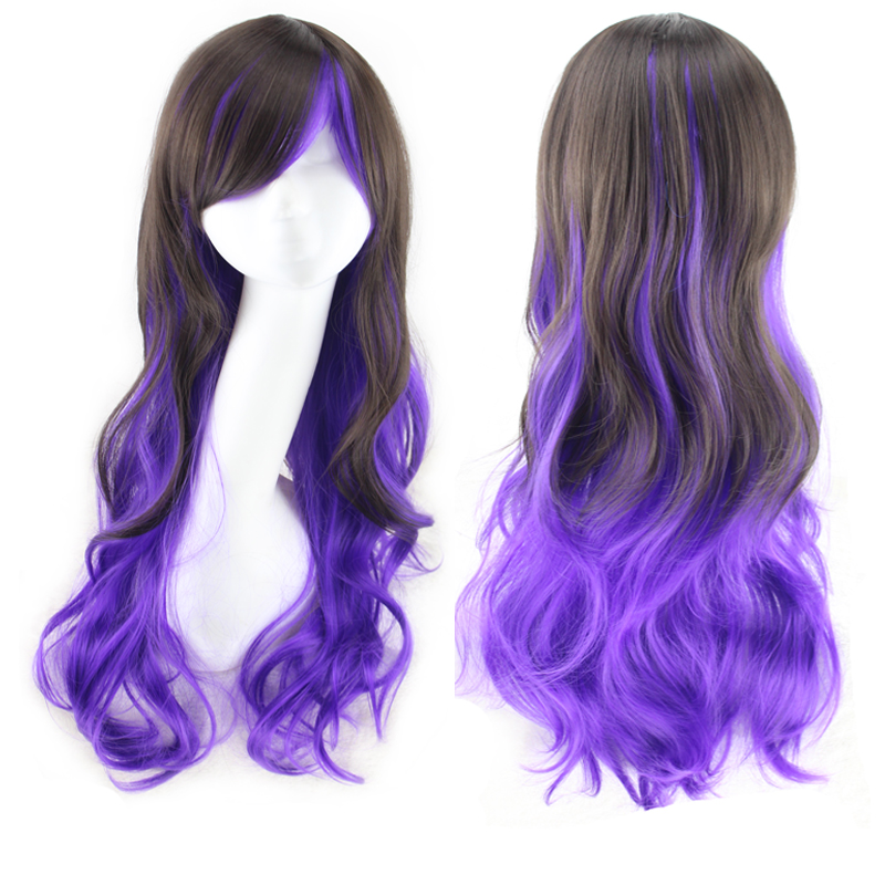 women ombre wigs heat resistant pastel synthetic rainbow wig deep curly wigs natural cheap long hair multicolor wig cosplay 2016<br><br>Aliexpress
