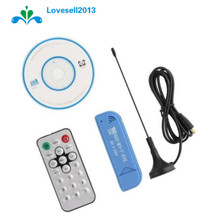 USB 2.0 Digital TV Tuner Receiver Stick Remote Control Software Radio DVB-T RTL2832U+R820T2 SDR Support Multi-language Microsoft(China)