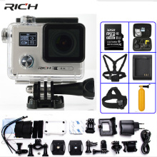 RICH Ultra HD F88 Action Camera Dual Screen NTK96660 4K 2160P 24FPS WiFi Go pro Style Extreme Waterproof 30M Sports Camara(China)