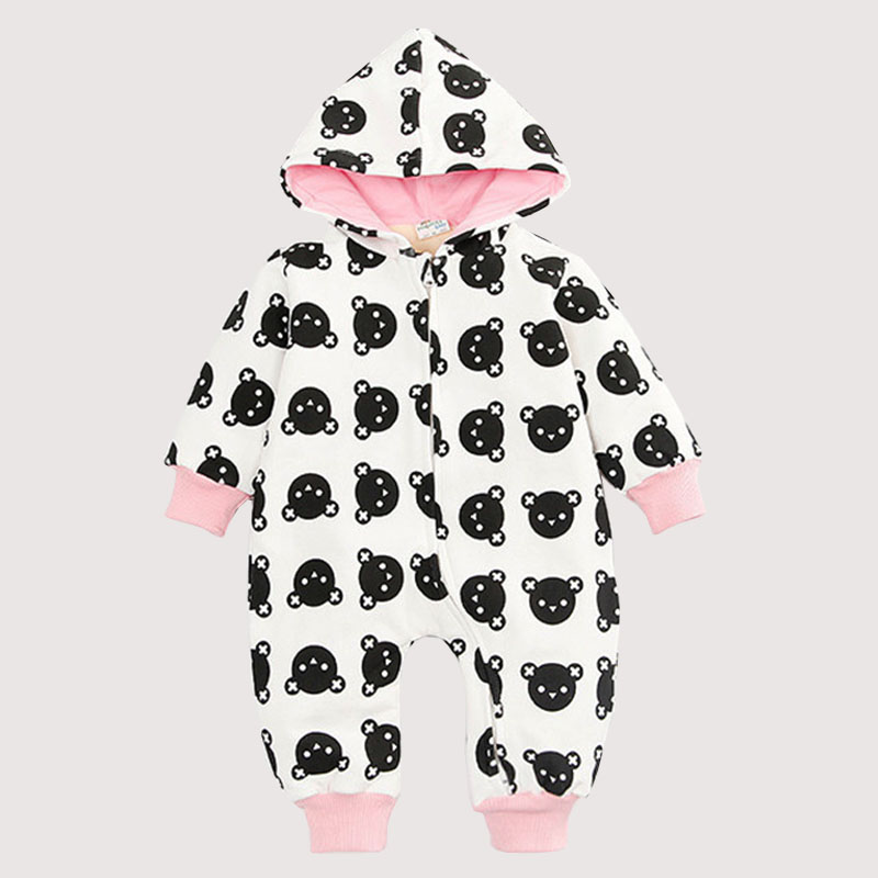 Winter Style Baby Clothes Baby Girl Boy Clothes Cute Bear Hoodie Thicken Jumpsuits Baby Costume Coveralls Rompers<br><br>Aliexpress