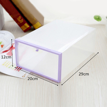 Brand New High Quality Transparent Plastic Stackable Shoe Box Case Durable Home Storage Container Office Shoe Organizer