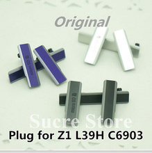 New 1Set=3pcs USB Charging Port Dust Plug Cover+Micro SD Port+SIM Card Port Slot Cover for Sony Xperia Z1 L39H C6903