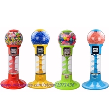 Mini Coin Operated Gumball Capsule Toy Spiral Vending Machine(China)