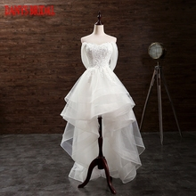 High Low Wedding Dress Short Front Long Back Ruffle Tulle Sweetheart Bridal Wedding Gowns Weddingdress(China)