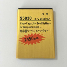 2450mAh EB494358VU For Samsung Galaxy Ace S5830 battery S6802 B7510 i569 i579 i619 S5660 S5670 S5830I S5838 S6102 S6108 5830