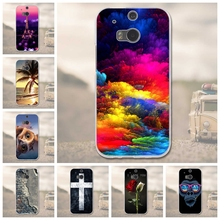 Soft TPU Case  for HTC One M8 Cover For HTC One M8S Phone Back Cover 3D Relief Case For HTC One M8 M 8 M8s M8X 5.0''Bags Coque