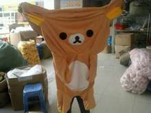 60 cm Large Rilakkuma Bear skin, teddy bears SKIN Plush Stuffed TOY, Soft Figure DOLL hull, animal clothes, not filling