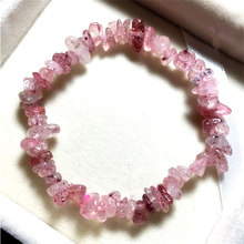 Strawberry Quartz Crystal Bracelet Jewelry Girl Natural Stone Bracelet Wristband Charm Braclet For Female Accessories