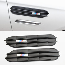 2pcs High Quality Air Flow Fender M III Side Vents Mesh Sticker Hole Grille For BMW M3 M5 E34 E39 E46 E60 E61 E90 Car styling