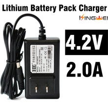 KingWei AC 100V-240V EU UK US plug 18650 lithium  battery pack 4.2V 2A charger for Flashlight headlamp  with wired