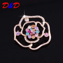 D&D Magazine Ruili Flower Brooches Korean Version Of The New Hollow Brooch Manufacturers Supply Rose Real Tin Alloy