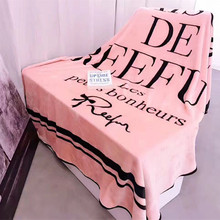 2017 New Spring/Autumn ins Pink Coral Fleece Fabric knitted Blankets Size Flannel Bedding Article Blanket Warm Sheet Travel