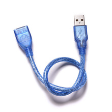 23cm Blue USB 2.0 Extension Male to Female Connector Cable for Mouse/Keyboard/Camera(China)