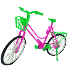 Free Shipping Kid's play house toys Doll Accessories Handmade Doll's Plastic bike For Barbie Doll Best Gift Baby Toys