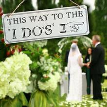 Wedding Decoration This Way To The I Dos Fun Express Wooden Wedding Yard Sign Wedding Arrow Direction Sign Romantic Weddings W3