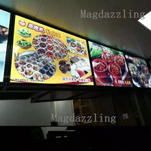 Ultra Thin Curved Aluminum Snap Frame LED Edge-lit Menu Board A1 Restaurant Advertising Light Boxes for Shop,Restaurant,Cafe