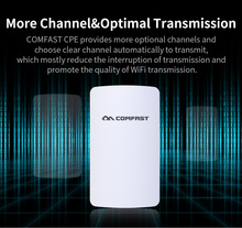 COMFAST 2.4ghz 300mbps outdoor CPE wifi router mini wireless bridge for ip camera project 1-2km long range amplifier CF-E110N(China)