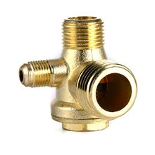 Hot Sale 3 Port Brass Male Threaded Check Valve Connector Tool for Air Compressor