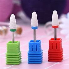 Ceramic Nozzle Nail Drill Bit Mill Cutter For Electric Drill Manicure Machine Device Acrylic Gel Polish Rapid Removal Nail File(China)