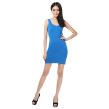 Summer Long Vest Female Lycra U Collar Slim Sleeveless Crop Top Tees Solid Sexy Skirt Women Tank Tops Candy Color Fitness Casual