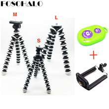 FOSOHALO S/M/L Universal Octopus Mini Tripod Supports Stand Spong For Mobile Phones Small Lightweight DLSR Cameras Accessories