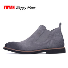 New 2017 Autumn and Winter Boots for Women Chelsea Boots Cow Suede Leather Winter Shoes Fashion Women's Boots Brand Shoes ZH1537