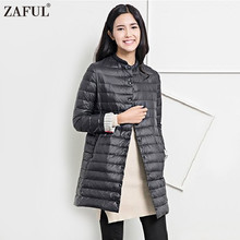 ZAFUL Wadded Winter Jacket Women Cotton Long Jacket 2017 Fur Slim Padded Coat Outwear High Quality Warm Chaquetas Parka Feminina