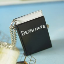 Anime Death note Pocket Watch 1pcs/lot black pendant free shipping new mens women Antique quartz 78cm Necklace silver book wp319(China)